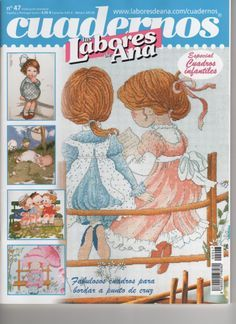 Gallery.ru / Фото #85 - Las Labores de Ana Cuadernos 47 - anfisa1 Cross Stitch Magazines, Cross Stitch Books, Baseball Cards, Embroidery, Sewing, Pattern, Crafts, Cross Country, Ideas