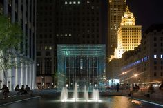 Positioned at the center of the General Motors Plaza, this 32-foot glass cube is both an icon and an entrance to a store. Entirely free of structural steel, ...