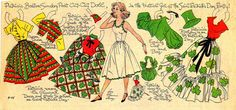 VINTAGE ST. PATRICK'S DAY NEWSPAPER PAPER DOLL PATRICIA BY LUCY ELEANOR LEARY | eBay