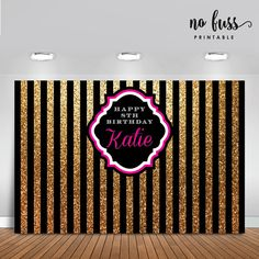 black gold party Black and Gold Backdrop Adults Party Banner by NoFussPrintable - This listing will be emailed to you as a high resolution printable PDF or JPG file. It is a digital file only and no physical item will be sent or mailed. 50th Party, 40th Birthday Parties, Gold Birthday, Birthday Ideas, Men Birthday, Gatsby Party, Decoration St Valentin, Party Banner, Black Gold Party