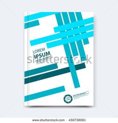 Vector Illustration Cover Design With Simple Geometric Elements