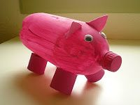 Get crafty with kids for Earth Day : DIY Piggy Bank made using a recycled pop bottle! Recycling Projects For Kids, Diy Crafts For Kids, Arts And Crafts, Diy Projects, Pop Bottles, Plastic Bottles, Empty Bottles, Piggy Bank Craft, Pig Crafts