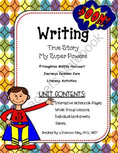 Writing Units for the Year - True Story/Super Powers! Enter for your chance to win 1 of 3.  Narrative Writing - True Stories/My Super Powers (28 pages) from Designs by Nawailohi on TeachersNotebook.com (Ends on on 8-30-2014)  Hi Everyone! Every week I make new writing units for my 2nd grade classroom.  It includes lesson plans for whole group, interactive notebook pages, worksheets, the writing process (thinking map, organizational brainstorming wks, rough draft, self editing, teacher ...
