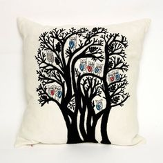 'Family Tree' cushion, part of the Forest Cushion range. Available to buy from: www.charlenemullen.com