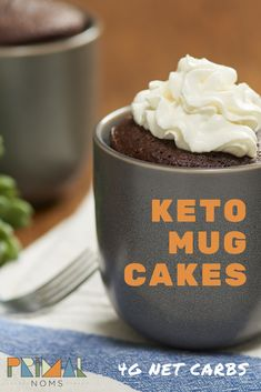 Keto, low carb mug cake in 2 minutes. net carbs, no sugar alcohols. Keto Chocolate Mug Cake, Keto Mug Cake, Chocolate Mug Cakes, Sugar Free Chocolate, Cream Cheeses, Key Lime, Stevia, Ketogenic Diet, Cocoa