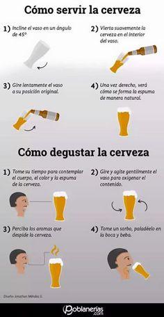 Infografía: Cómo servir y degustar la cerveza.  http://ift.tt/1QJPYd3