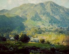 Hanson Duvall Puthuff August 21 1875 May 12 1972 was a landscape painter and muralist born in Waverly Missouri Puthuff studied at the Art Institute o Contemporary Landscape, Landscape Art, Landscape Paintings, American Impressionism, Impressionist Paintings, Oil Paintings, California Art, Southern California, Mountain Paintings