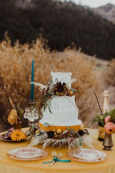 La Tavola Fine Linen Rental: Velvet Tamarind | Photography: Kay Kroshus Photography, Planning & Styling: Forget Me Knot Events & Design, Florals: Love & Lupines, Paper Goods & Calligraphy: Pretty Written Things, Venue: Squaw Valley Stables, Rentals: Lucky Burro, Cake: Delicious Designs