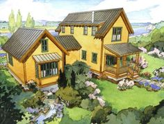 Small farm house plans - build on as you can. Start small and get bigger... quite an idea!