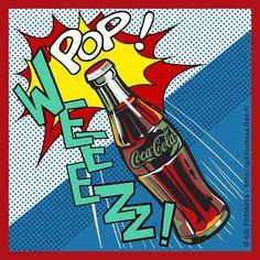 Pop Art Bottles Pop-art-cocacola