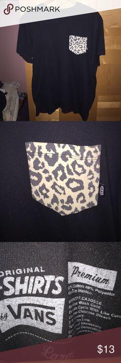 Vans cheetah pocket tee Condition 8/10 Vans Shirts Tees - Short Sleeve
