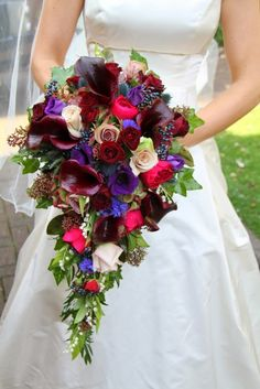 Flower Design Events: Jewel Colours For Lucy & Guy's St Wulston's Fleetwood & The Grand Hotel St Annes Wedding Day