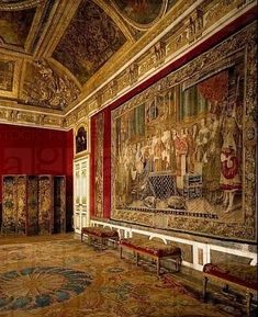 Queen´s antechamber or grand couvert salon, Palace of Versailles Chateau Versailles, Palace Of Versailles, Luís Xiv, French Royalty, Palace Interior, Saint Michael, French History, Fantasy Castle, Rouen