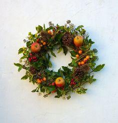 Harvest apple wreath