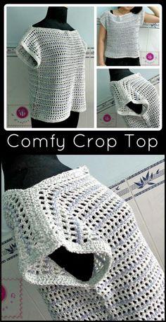 Crochet Airy Crop Top - 50+ Quick & Easy Crochet Summer Tops - Free Patterns - DIY & Crafts