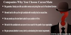 Reasons To Choose Best #Recruitment #Company Of Noida-#Careermate