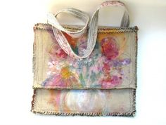 Handpainted one-of-a-kind bag