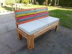 Pallet Outdoor #Sofa With Comfort Back | Pallet Furniture