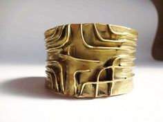 rigid copper bracelet from artwork of a  french di Leschosesdemanu