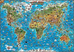 """Развивающий плакат """"Карта мира для детей"""""""