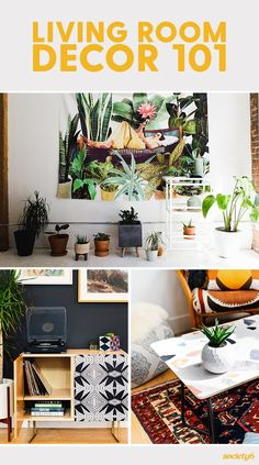 Show your living room some LOVE! The living room is quite literally meant for living, for entertaining, for date nights, for impromptu dancing. We've broken down the basics so that decorating your living room is a breeze. Garden Coffee Table, Cool Coffee Tables, Coffee Table Books, Living Room Furniture, Living Room Decor, Living Room Essentials, Do It Yourself Projects, Wall Spaces, Breeze