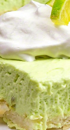 "Creamy Lime Macaroon Bars with Instant Pudding & Limeade Concentrate 11x7 or 9"" square."