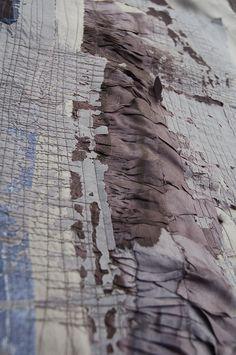 Teresa Searle 2015 Layered Devore;silk and linen