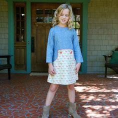 Size 1 2 3 4 5 6 7 8 9 10 girls Fall Dress   by SchoolHouseFrock