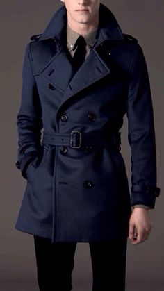 mens fashion trench