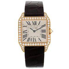 Cartier Damen-Armbanduhr Santos DumontIndustriediamant 18 Karat Roségold Quarz WH100351 - http://uhr.haus/cartier/cartier-damen-armbanduhr-santos-dumont-18-karat
