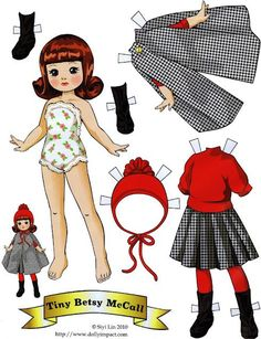 Tiny Betsy McCall paper doll by Siyi Lin Tiny Betsy McCall paper doll by Siyi Lin Little Doll, Little Girls, Paper Art, Paper Crafts, Paper Dolls Printable, Vintage Paper Dolls, Paper Toys, Doll Toys, Dolls Dolls