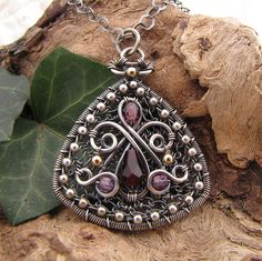 muscadine wine~handmade wire wrapped sterling silver Czech glass pendant   Flickr - Photo Sharing!
