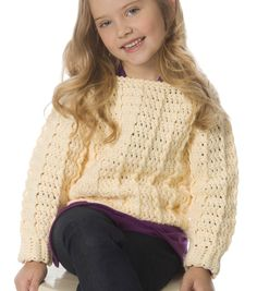 Kid's Crochet Pullover | Crochet Sweater