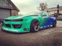 #Nissan #S15 #Style46_Wheels #Wide_Body #Modified #JDM
