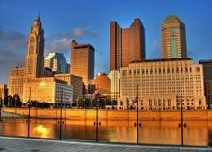 Columbus' changing water front. Miss those blue skies!