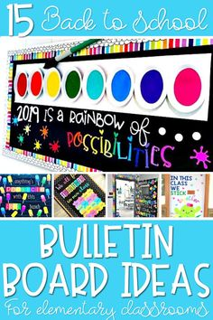 Looking for back to school bulletin board ideas to brighten up your classroom? These classroom door decorations, and bulletin boards are perfect for the beginning of the year!