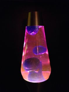16 inch lava lamp. Pink liquid, blue wax.