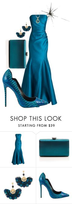 """Blue Snakeskin Shoe"" by paperdollsq ❤ liked on Polyvore featuring Badgley Mischka, La Regale, Gas Bijoux, Lust For Life, Natures Jewelry and snakeskinchallange"