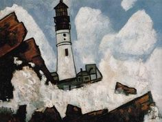 The Lighthouse c1940 - Marsden Hartley reproduction oil painting