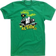 Drama Club T-shirts High School Tshirts Tees Lights Camera Action