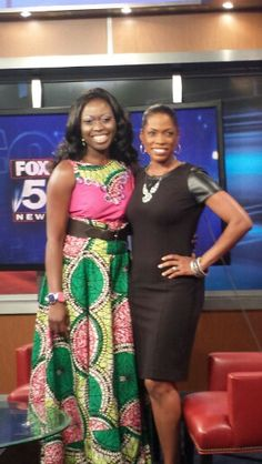 Lara Akinsanya ( founder of runwaymoms.org and Lshandi designs) on Fox 5 news with shawn Yancy.. makeup by Kara