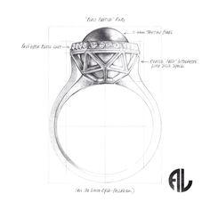 Perle Captive Ring
