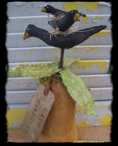 pRiMiTiVe CrOW oN pInEaPpLE by Rabbithollowprims on Etsy, $16.95