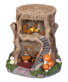 Light-Up Tree Stump Fairy House   zulily