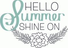 Silhouette Design Store - View Design #63027: hello summer