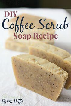 DIY Coffee Scrub Soap - (frugalfarmwife)