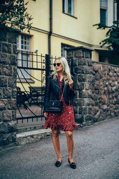 Red summer dress oitfit // by jonnamaista