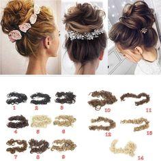 Wedding Hair Extensions, Ponytail Hair Extensions, Ponytail Hairstyles, Wedding Hairstyles, Chignon Hair, Short Curly Wigs, Short Hair Bun, Bridesmaid Hair Half Up, Soft Hair