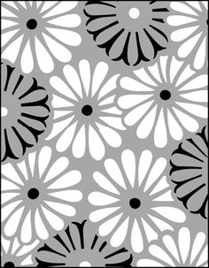 Click to see the actual JA59 - Asters stencil design.