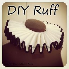 DIY Ruff Instructions for Costuming perfect for my 2016 Halloween plans Costume Tutorial, Cosplay Tutorial, Cosplay Diy, Pierrot Costume, Pierrot Clown, Diy Costumes, Cosplay Costumes, Halloween Costumes, Clown Costume Diy